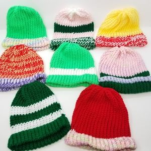HUGE Handmade Knit Beanie Set! Family Friends Gift